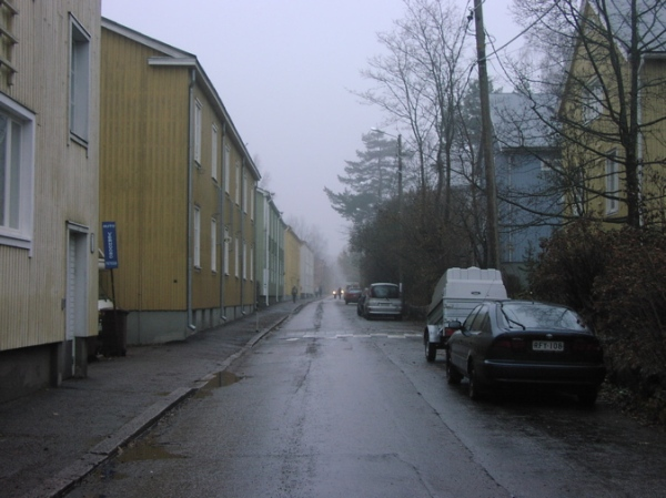 Wooden houses in Kumppula