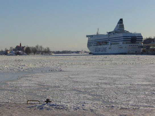 Silja ship in the ice
