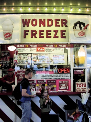 the Wonder Freeze ice cream stand at Pike Place Market