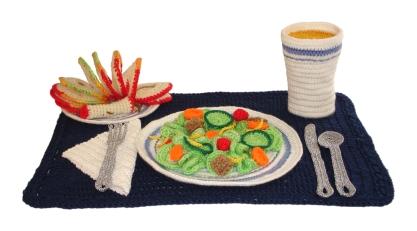 Crocheted salad