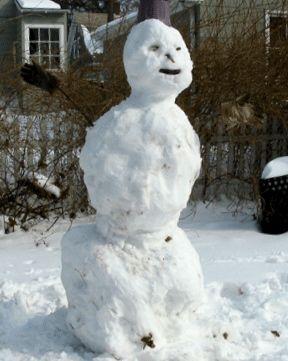 Eager snowman