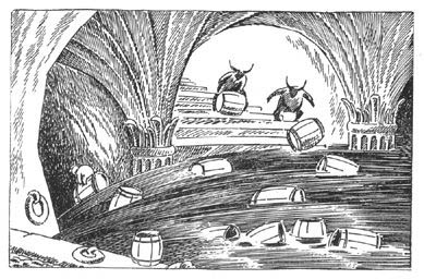 Escaping in casks
