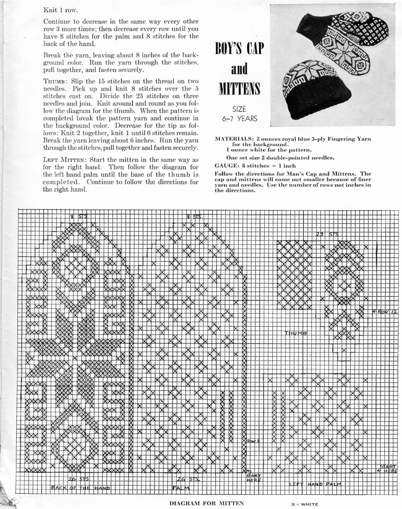 Scandinavian Knitting Patterns : Vintage Knits: Scandinavian Snow Sets The Chawed Rosin