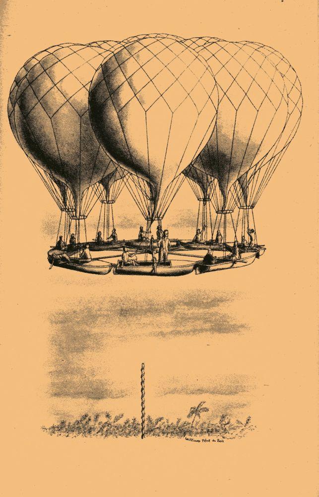 William Pene Du Bois U2019 Illustrations For The 21 Balloons