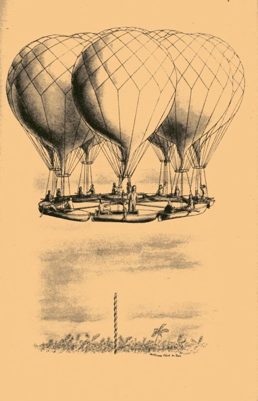 Launch of balloon boats