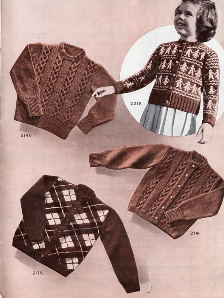 Vintage Knits Smart Sweaters For Kids From 1950 The Chawed Rosin