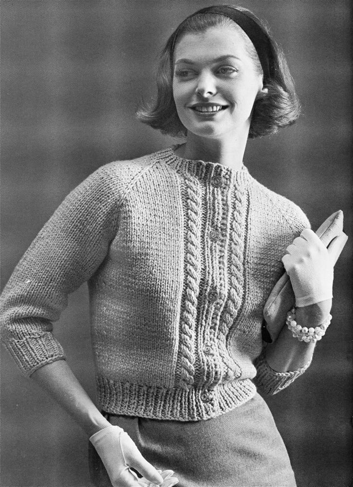 Vintage Knits: Raglan Cardigan from 1961 | The Chawed Rosin