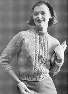 If you start knitting now you could totally have this finished by October