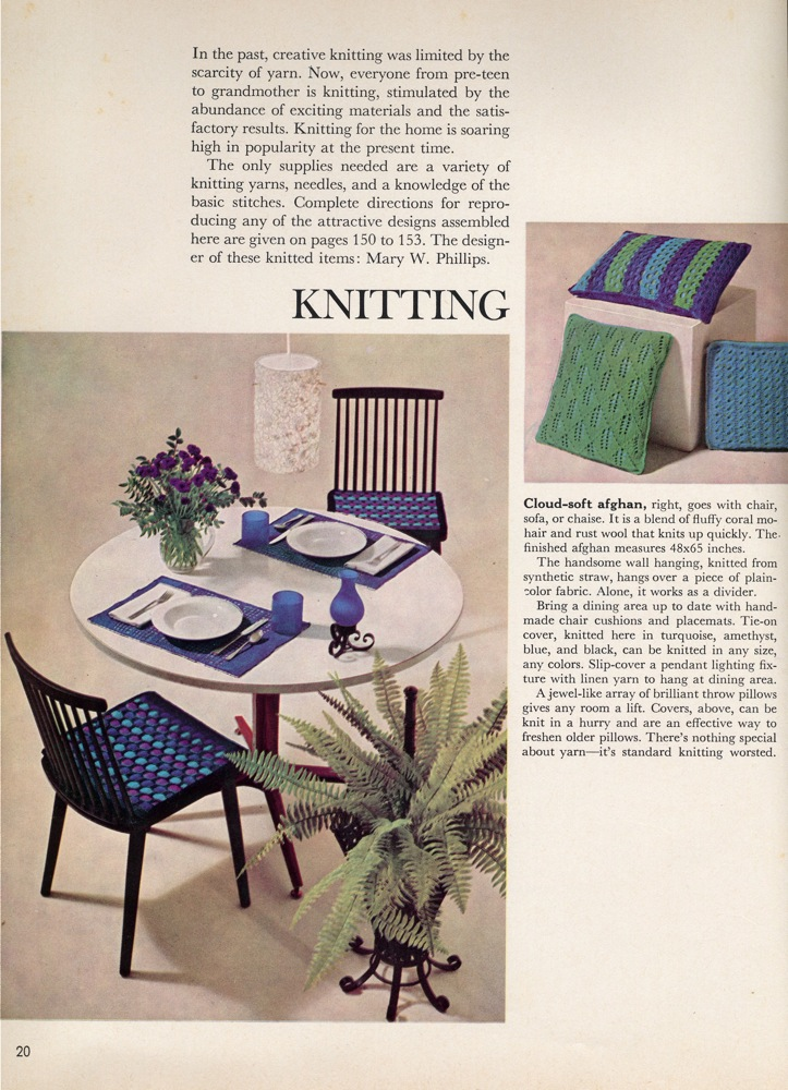 Vintage knits 1960s home decor the chawed rosin for Home decor 1960s