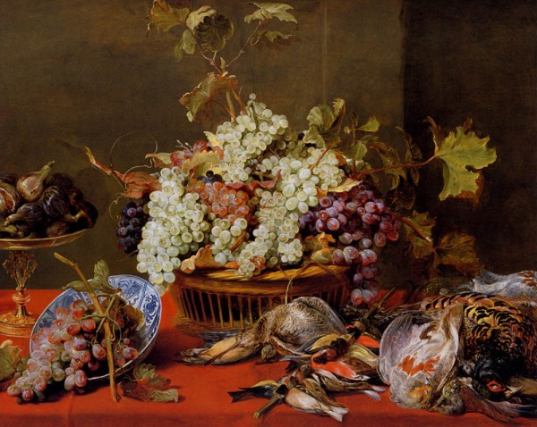 a_still_life_of_grapes_in_a_basket