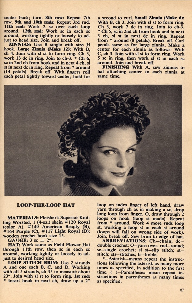 History of Hair Snoods - Free Crochet Patterns - Sources To