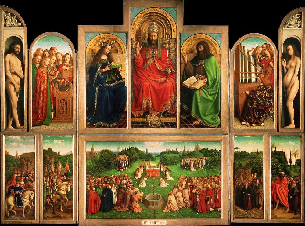 Ghent Altarpiece Lamb Jan van Eyck's Ghent...