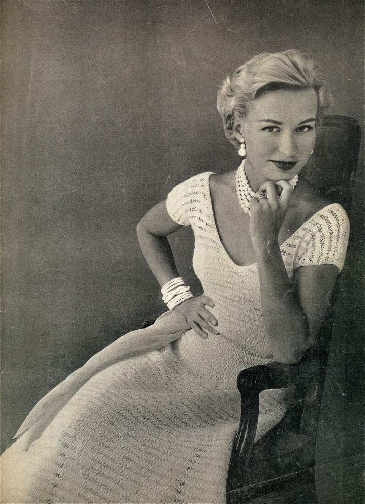 Vintage Knits: 50s Simple Lace Dress The Chawed Rosin