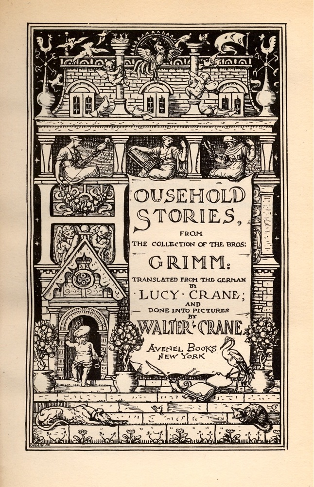 walter crane s illustrations for grimm s fairy tales the