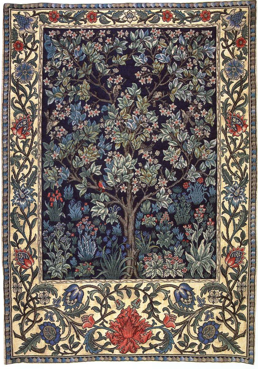 william morris tapestries the chawed rosin