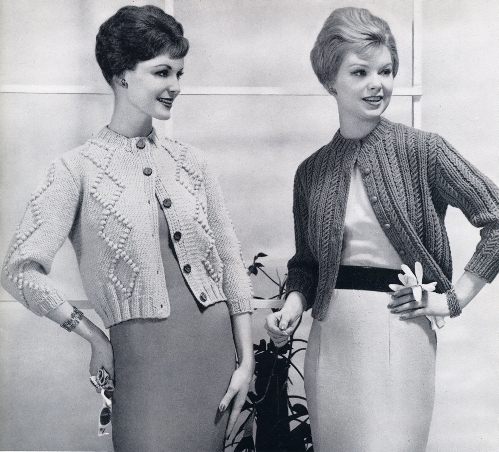 Vintage Knits: Two Cardigans from 1960 The Chawed Rosin