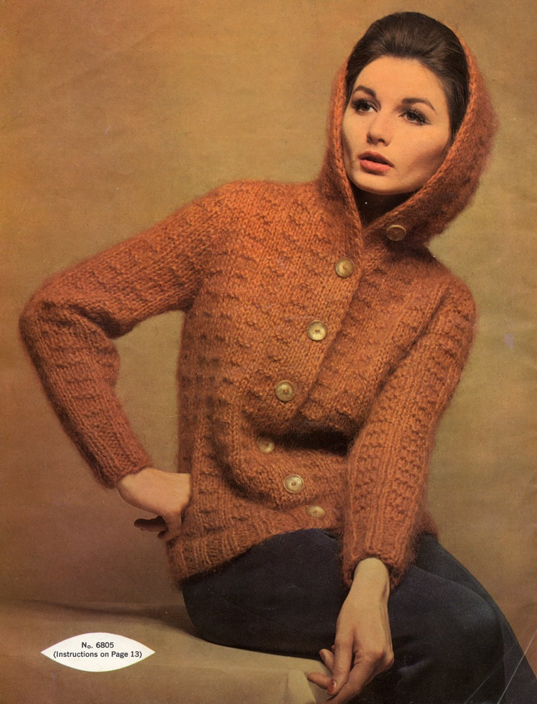 Vintage Knits: 1962 Hooded Mohair Cardigan The Chawed Rosin
