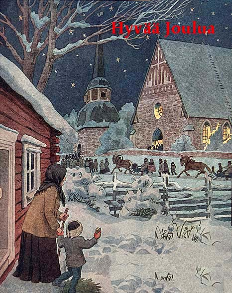 Vintage finnish christmas cards the chawed rosin share this m4hsunfo