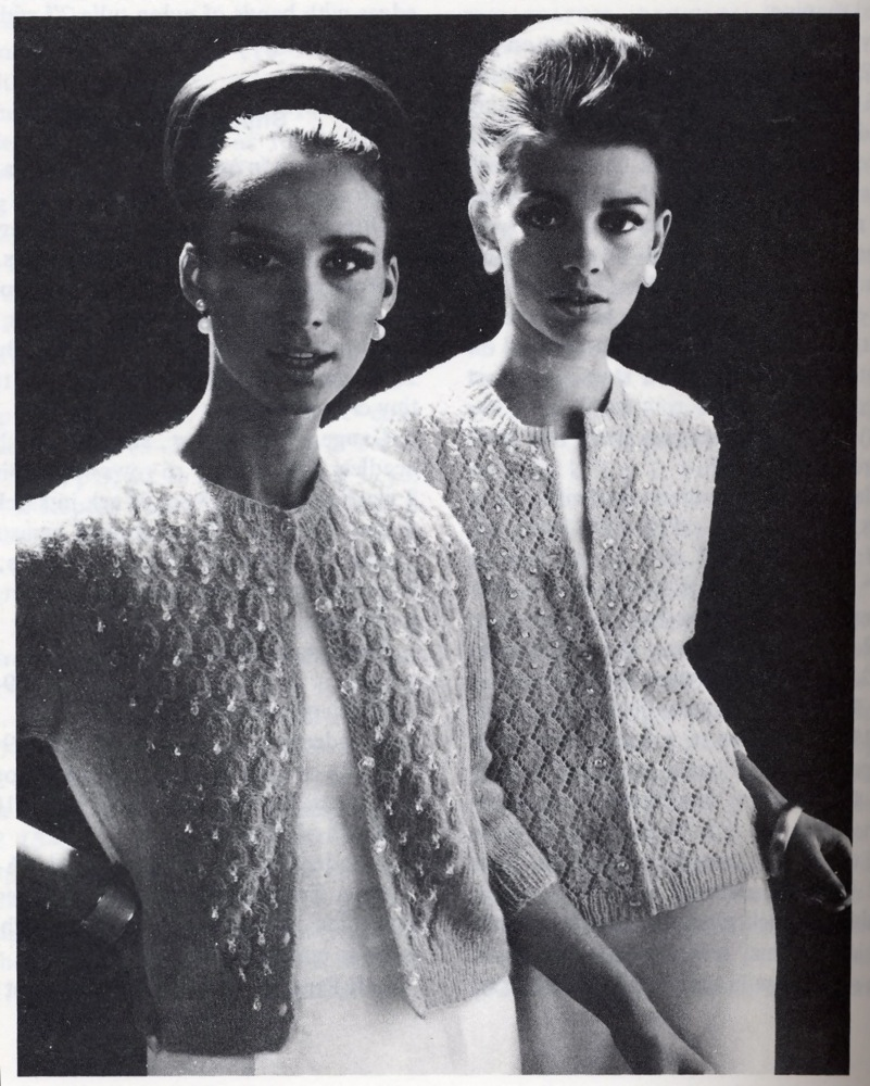 Old Knitting Pictures : Vintage knits beaded lace cardigans from the