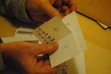 mockup, 2 sheets per signature