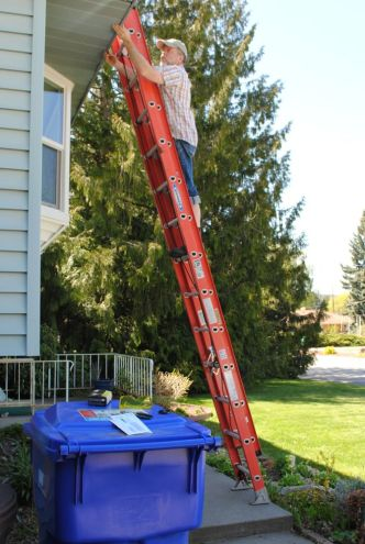 fixing the eaves