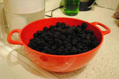 colander of berries
