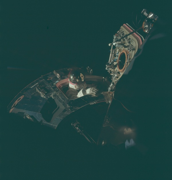 Emerging Apollo 9 space walk