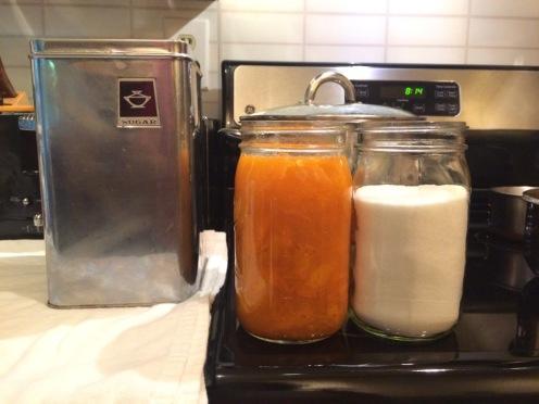 4x apricots / 3x sugar