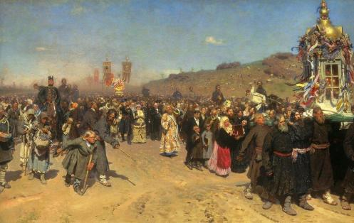 Religious Procession in Kursk Province, by Ilya Repin