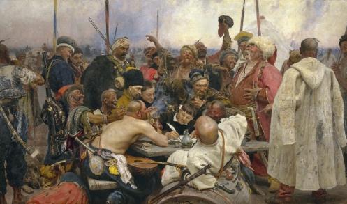 The Zaparozhye Cossacks Writing a Mocking Letter to the Turkish Sultan