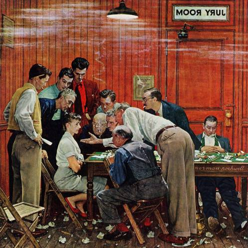 The Jury Room, Norman Rockwell