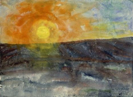 Emil Nolde Winter Sun