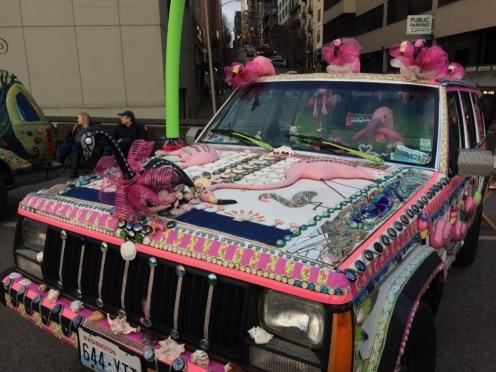 Flamingo art car