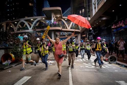 Hong Kong protest- umbrella and love